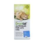 Drontal Cat All Wormer 4kg-flea-|-worm-The Pet Centre