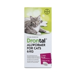 Drontal Cat All Wormer 6kg-worm-treatments-The Pet Centre