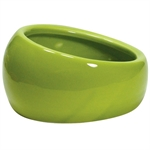 Living World Ergonomic Dish Green Small-bowls-The Pet Centre