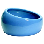 Living World Ergonomic Dish Blue Large-bowls-The Pet Centre