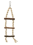 Natural Rope Ladder 3 Rung - 40cm-rope-The Pet Centre