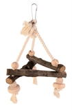 Natural Triangle Swing 16cm-rope-The Pet Centre