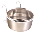 Stainless Steel Coop Cup & Holder -0.3L 9cm-bowls-The Pet Centre