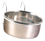 Stainless Steel Coop Cup & Holder -0.6L 12cm-bowls-The Pet Centre