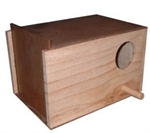Budgie Nest Box + Concave-bird-The Pet Centre