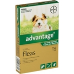 Advantage Flea Treatment for Small Dogs & Puppies under 4kg 4 pack-dog-The Pet Centre