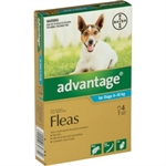 Advantage Flea Treatment for Dogs 4-10kg 4 pack-dog-The Pet Centre