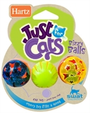 Hartz Bizzy Balls Cat Toys 3pk-toys-The Pet Centre