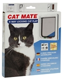 Catmate Door Wood Standard White-cat-doors-The Pet Centre