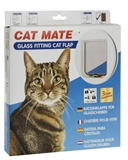 Cattmate Door Cat White Glass Fitting-cat-The Pet Centre