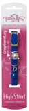 Trouble & Trix Cat Collar High Street Stretch Blue-fashion-The Pet Centre
