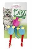 Trouble & Trix Bliss Mice Bell 3pk-catnip-The Pet Centre