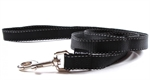 Petone Leash - Reflective Nylon 20mm - 150cm Black-fashion-The Pet Centre