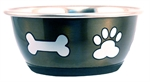 Stainless Steel Durapet Fashion Bowl - Grey 1.9L-stainless-The Pet Centre