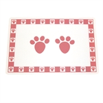 Pet Paws Pink Placemat-placemats-The Pet Centre
