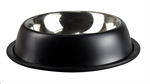Stainless 900ml Bowl Non Tip Anti Skid Black-stainless-The Pet Centre
