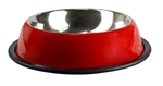 Stainless 1.80L Bowl Non Tip Anti Skid Red-stainless-The Pet Centre