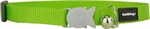 Red Dingo Cat Collar Lime Green-breakaway-The Pet Centre