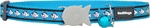 Red Dingo Cat Collar Reflective Fish Turquoise-reflective-The Pet Centre