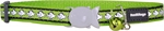 Red Dingo Cat Collar Reflective Fish Lime Green-reflective-The Pet Centre