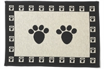 Tapestry Placemat - Paws Natural & Black-placemats-The Pet Centre