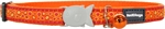 Red Dingo Cat Collar Bedrock Orange-breakaway-The Pet Centre