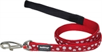 Red Dingo Lead Spots On White 20mm x 1.2-fashion-The Pet Centre
