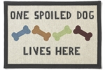 "Tapestry Placemat - ""One Spoiled Dog Lives Here""-placemats-The Pet Centre"