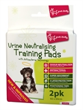 Yours Droolly Urine Neutralising Anti Bacterial Training Pads 2 pack-clean-up-The Pet Centre