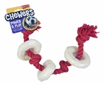 Yours Droolly Rubber Rope & Rawhide Rings 45cm-rope-and-tug-toys-The Pet Centre