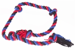 Yours Droolly Chewers Cloth Rope Blue 90cm-chew-toys-The Pet Centre