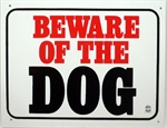 Plaque *Beware Of The Dog* Large-training-The Pet Centre