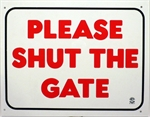 Plaque *Please Shut The Gate*-training-The Pet Centre