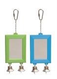Rectangular Mirror With Bell Green-toys-The Pet Centre