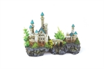 Mountain Castle With Plants - Small-ornaments-The Pet Centre
