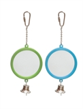 Round Mirror With Bell Green - Large-toys-The Pet Centre
