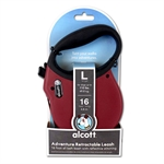 Adventure Retractable Lead Large Red 4.8m-leads-The Pet Centre