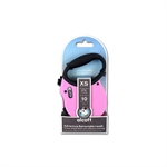 Adventure Retractable Lead X Small Pink 3m-retractable-The Pet Centre
