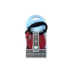 Adventure Retractable Lead X Small Red 3m-leads-The Pet Centre