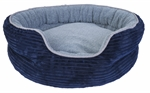Yours Droolly Indoor Osteo Dog Bed Round Navy Large-dog-The Pet Centre