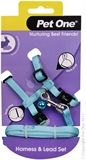 Pet One Small Animal Harness and Lead - Aqua-harnesses-The Pet Centre