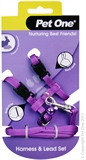 Pet One Small Animal Harness and Lead - Purple-harnesses-The Pet Centre
