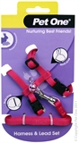 Pet One Small Animal Harness and Lead - Pink-harnesses-The Pet Centre