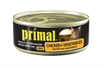 Primal Chicken & Vegatable Cat Food Can 100g-food-The Pet Centre