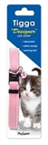 Tigga Glitter Cat Collar Pink 10mm x 33cm-collars-and-harnesses-The Pet Centre