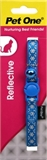 Pet One Reflective Snowflake Cat Collar Blue-breakaway-The Pet Centre