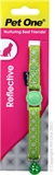 Pet One Reflective Snowflake Cat Collar Green-breakaway-The Pet Centre