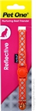Pet One Reflective Snowflake Cat Collar Orange-breakaway-The Pet Centre