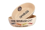 Petrageous One Spoilt Cat Oval Dish 17cm-bowls-The Pet Centre