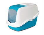 Savic Nestor Hooded Litter Tray Blue-cat-The Pet Centre